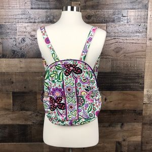 Vera Bradley Purple and Green floral backpack
